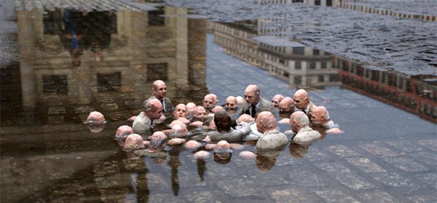 Políticos discutiendo el cambio climático